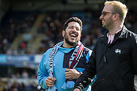 Sal Vulcano in high spirits during The Impractical Jokers (Hit US TV Comedy) filming at Wycombe Wanderers FC at Adams Park, High Wycombe, England on 5 April 2016. Photo by Andy Rowland.