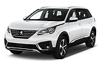 2019 Peugeot 5008 Allure 5 Door SUV Angular Front automotive stock photos of front three quarter view