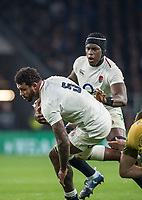 Twickenham, United Kingdom, Saturday, 24th  November 2018, RFU, Rugby, Stadium, England, England secord Row Forwars, Lock's left Courtney LAWES and Maro ITOJI, during the Quilter Autumn International, England vs Australia, © Peter Spurrier