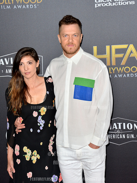 LOS ANGELES, CA. November 04, 2018: Dan Reynolds &amp; Aja Volkman at the 22nd Annual Hollywood Film Awards at the Beverly Hilton Hotel.<br /> Picture: Paul Smith/Featureflash