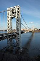 FORT LEE, NJ - APRIL 2: General view of George Washington Bridge along Hudson river between New York and New Jersey on April 2, 2017 in Fort Lee, New Jersey. Photo by VIEWpress/ Kena Betancur