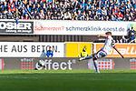 05.10.2019, Benteler Arena, Paderborn, GER, 1.FBL, SC Paderborn 07 vs 1. FSV Mainz 05<br /> <br /> DFL REGULATIONS PROHIBIT ANY USE OF PHOTOGRAPHS AS IMAGE SEQUENCES AND/OR QUASI-VIDEO.<br /> <br /> im Bild / picture shows<br /> Tor 1:2, <br /> Daniel Brosinski (FSV Mainz 05 #18) mit Torschuss und Treffer per Foulelfmeter zum 1:2, <br /> <br /> Foto © nordphoto / Ewert