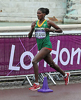 Tiki Gelana wins Gold for Ethiopia in the Women's Olympic Marathon (26 images total)