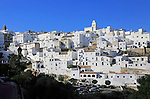 Pueblo blanco historic village whitewashed houses on hillside, Vejer de la Frontera, Cadiz Province, Spain