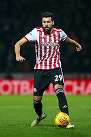 Yoann Barbet of Brentford in action during Brentford vs Aston Villa, Sky Bet EFL Championship Football at Griffin Park on 13th February 2019
