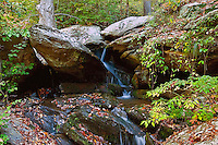 October, 2011. Foliage, waterfalls and landscape at Okoee National Forest in Tennessee