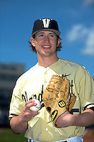 Vanderbilt Commodores pitcher Carson Fulmer (15) poses for a photo before a game against the Indiana State Sycamores on February 21, 2015 at Charlotte Sports Park in Port Charlotte, Florida.  Indiana State defeated Vanderbilt 8-1.  (Mike Janes/Four Seam Images)