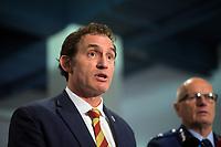 Stuart Nash, NZ Minister of Police. NZ gun buyback scheme. Trentham Racecourse in Upper Hutt, New Zealand on Thursday, 4 July 2019. Photo: Dave Lintott / lintottphoto.co.nz