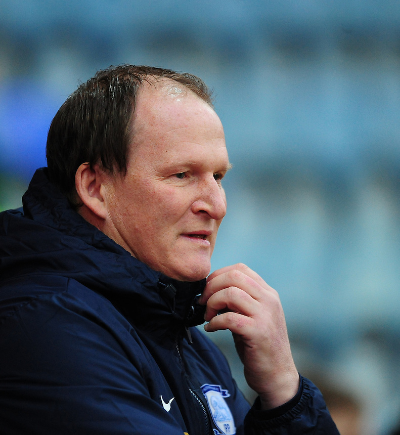 Preston North End manager Simon Grayson <br /> <br /> Photographer Chris Vaughan/CameraSport<br /> <br /> Football - The FA Cup Third Round - Peterborough United v Preston North End - Saturday 9th January 2016 - ABAX Stadium - Peterborough <br /> <br /> &copy; CameraSport - 43 Linden Ave. Countesthorpe. Leicester. England. LE8 5PG - Tel: +44 (0) 116 277 4147 - admin@camerasport.com - www.camerasport.com