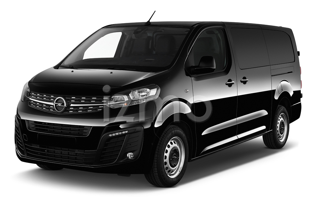 2020 Opel Vivaro Innovation 4 Door Cargo Van angular front stock photos of front three quarter view