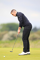 Alan Lowry (Esker Hills) on the 1st green during Round 1 of The East of Ireland Amateur Open Championship in Co. Louth Golf Club, Baltray on Saturday 1st June 2019.<br /> <br /> Picture:  Thos Caffrey / www.golffile.ie<br /> <br /> All photos usage must carry mandatory copyright credit (© Golffile | Thos Caffrey)