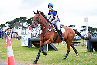 NZL-Sophie Abbott rides Diamond Grove during the NZ Horse & Pony CCN105 Fiber Fresh Cross Country. 2016 NZL-Puhinui International 3 Day Event. Puhinui Reserve, Auckland. Saturday 10 December. Copyright Photo: Libby Law Photography