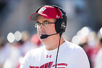 Wisconsin Badgers Head Coach Paul Chryst looks on during an NCAA Big Ten Conference football game against the Maryland Terrapins Saturday, October 21, 2017, in Madison, Wis. The Badgers won 38-13. (Photo by David Stluka)