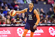 Washington, DC - June 3, 2018: Connecticut Sun guard Alex Bentley (20) in action during game between the Washington Mystics and Connecticut Sun at the Capital One Arena in Washington, DC. (Photo by Phil Peters/Media Images International)