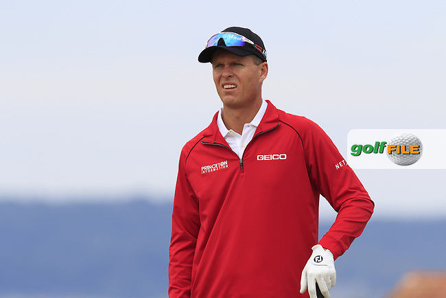 John SENDEN (AUS) on the 18th tee during Thursday's Round 1 of the 2015 U.S. Open 115th National Championship held at Chambers Bay, Seattle, Washington, USA. 6/18/2015.<br /> Picture: Golffile | Eoin Clarke<br /> <br /> <br /> <br /> <br /> All photo usage must carry mandatory copyright credit (&copy; Golffile | Eoin Clarke)