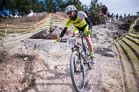 Chelva, SPAIN - MARCH 6: Daniel Baquedano during Spanish Open BTT XCO on March 6, 2016 in Chelva, Spain