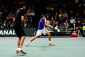 5th November 2017, Paris, France. Rolex Masters mens tennis doubles tournament final;  Lukasz Kubot and Marcelo Melo (Bra)