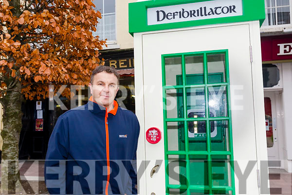 Leo O'Connor is appealing to the public to keep an eye on local defibrillators and report any damage following two incident of damage to the life-saving equipment in recent weeks.