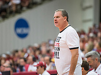 NWA Democrat-Gazette/BEN GOFF @NWABENGOFF<br /> Clay Moser, Arkansas assistant coach, leads red team in the first half Saturday, Oct. 5, 2019, during the annual Arkansas Red-White Game at Barnhill Arena in Fayetteville.
