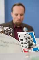 """Der deutsche Journalist Billy Six (im Bild) stellte sich am Dienstag den 19. Maerz 2019 in Berlin, nach vier Monaten Haft in Venezuela, den Fragen der Presse.<br /> Six ist freier Mitarbeiter der rechten Publikation """"Junge Freiheit"""". Fuer seine Freilassung hatten sich hauptsaechlich Mitglieder der rechten Partei """"Alternative fuer Deutschland"""" (AfD) eingesetzt.<br /> 19.3.2019, Berlin<br /> Copyright: Christian-Ditsch.de<br /> [Inhaltsveraendernde Manipulation des Fotos nur nach ausdruecklicher Genehmigung des Fotografen. Vereinbarungen ueber Abtretung von Persoenlichkeitsrechten/Model Release der abgebildeten Person/Personen liegen nicht vor. NO MODEL RELEASE! Nur fuer Redaktionelle Zwecke. Don't publish without copyright Christian-Ditsch.de, Veroeffentlichung nur mit Fotografennennung, sowie gegen Honorar, MwSt. und Beleg. Konto: I N G - D i B a, IBAN DE58500105175400192269, BIC INGDDEFFXXX, Kontakt: post@christian-ditsch.de<br /> Bei der Bearbeitung der Dateiinformationen darf die Urheberkennzeichnung in den EXIF- und  IPTC-Daten nicht entfernt werden, diese sind in digitalen Medien nach §95c UrhG rechtlich geschuetzt. Der Urhebervermerk wird gemaess §13 UrhG verlangt.]"""