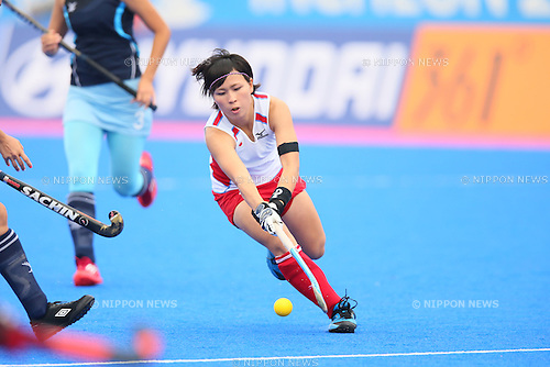 Shiho Otsuka (JPN), <br /> SEPTEMBER 26, 2014 - Hockey : <br /> Women's Preliminary <br /> between Kazakhstan Women's 0-8 Japan Women's <br /> at Seonhak Hockey Stadium <br /> during the 2014 Incheon Asian Games in Incheon, South Korea. <br /> (Photo by YUTAKA/AFLO SPORT)