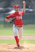 March 18th 2008:  Justin Blaine of the Philadelphia Phillies minor league system during Spring Training at the Carpenter Complex in Clearwater, FL.  Photo by:  Mike Janes/Four Seam Images