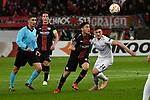 08.11.2018, BayArena, Leverkusen, Europaleque, Vorrunde, GER, UEFA EL, Bayer 04 Leverkusen (GER) vs. FC Zuerich (SUI),<br />  <br /> DFL regulations prohibit any use of photographs as image sequences and/or quasi-video<br /> <br /> im Bild / picture shows: <br /> Charles Ar&aacute;nguiz (Leverkusen #20), im Zweikampf gegen  Toni Domgjoni (FC Zuerich #14), <br /> <br /> Foto &copy; nordphoto / Meuter<br /> <br /> <br /> <br /> Foto &copy; nordphoto / Meuter