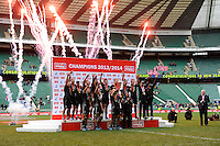 New Zealand celebrate winning the HSBC Sevens Series during Day Two of the iRB Marriott London Sevens at Twickenham on Sunday 11th May 2014 (Photo by Rob Munro)