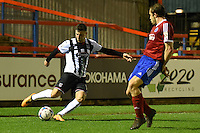 Padraig Amond of Grimsby Town crosses the ball during the Vanarama National League match between Aldershot Town and Grimsby Town at the EBB Stadium, Aldershot, England on 5 April 2016. Photo by Paul Paxford / PRiME Media Images.