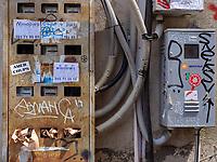 Stromzähler auf der Kote Apkhazi, Tiflis – Tbilissi, Georgien, Europa<br /> electric meter box at Kote Apkhazi, Tbilisi, Georgia, Europe
