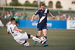 Cagliari Calcio (in white) vs HKFC (in navy blue), during their Main Tournament match, part of the HKFC Citi Soccer Sevens 2017 on 27 May 2017 at the Hong Kong Football Club, Hong Kong, China. Photo by Marcio Rodrigo Machado / Power Sport Images