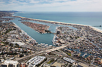 Aerial Stock Photos over Newport Beach California Orange County