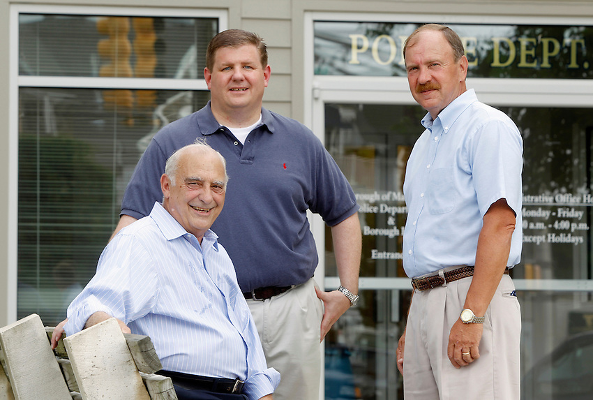 Manasquan Borough Council candidates Edward G. Donovan and Owen C. McCarthy along with Mayor George Dempsey...