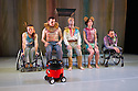 London, UK. 13.05.2014. StopGap Dance Company present ARTIFICIAL THINGS as part of the =dance strand in the Lilian Baylis Studio, at Sadler's Wells. Picture shows: Laura Jones, David Willdridge, Chris Pavia, Amy Butler and David Toole, with Henry Vacuum (front). Photograph © Jane Hobson.