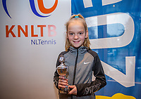 Hilversum, Netherlands, December 3, 2017, Winter Youth Circuit Masters, 12,14,and 16 years, 7 th place girls 12 years Ruth Jonker<br /> Photo: Tennisimages/Henk Koster