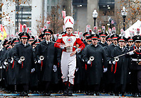 The Ohio State Marching Band marches toward St. John Arena for Skull Session before the NCAA college football game between the Michigan Wolverines and the Ohio State Buckeyes at Ohio Stadium on Saturday, Nov. 24, 2018. [Tyler Schank/Dispatch]