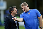 Mike Ford (left) and forwards coach Neal Hatley of Bath Rugby - European Rugby Champions Cup - Bath Rugby vs Toulouse - Recreation Ground Bath - Season 2014/15 - October 25th 2014 - <br /> Photo Malcolm Couzens/Sportimage