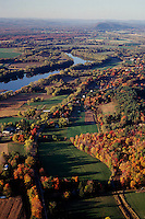 aerial view Connecticut river, Northampton, MA