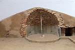 Model of building construction Los Millares prehistoric settlement, Almeria, Spain