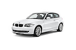 Front three quarter view of a 2007 - 2011 BMW 1-Series 123d 3 Door Hatchback 2WD.