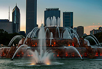 Buckingham Fountain's light show starts around sundown and is a show thateveryone should experience, Chicago, Illinois