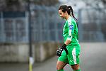 16.03.2019, Stadion Essen, Essen, GER, AFBL, SGS Essen vs TSG 1899 Hoffenheim, DFL REGULATIONS PROHIBIT ANY USE OF PHOTOGRAPHS AS IMAGE SEQUENCES AND/OR QUASI-VIDEO<br /> <br /> im Bild | picture shows:<br /> Bryane Heaberlin (FFC Frankfurt #1) muss nach Notbremse an Lea Schueller (SGS Essen #24) das Feld verlassen, <br /> <br /> Foto &copy; nordphoto / Rauch