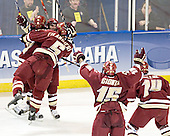 Mike Brennan, Joe Rooney, Tim Filangieri, Stephen Gionta, Matt Greene - The Boston College Eagles defeated the Boston University Terriers 5-0 on Saturday, March 25, 2006, in the Northeast Regional Final at the DCU Center in Worcester, MA.