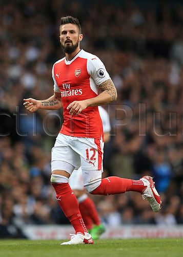 April 30th 2017, White Hart Lane, Tottenham, London England; EPL Premier League football Tottenham Hotspur versus Arsenal; Olivier Giroud of Arsenal looks on
