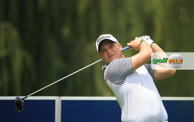 Zander Lombard (RSA) plays down the 15th on the West Course during Round 2 of the 2016 Joburg Open Celebrating 10 years, played at the Royal Johannesburg and Kensington Golf Club, Gauteng, Johannesburg, South Africa.  15/01/2016. Picture: Golffile | David Lloyd<br /> <br /> All photos usage must carry mandatory copyright credit (&copy; Golffile | David Lloyd)