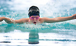 Tennis Club's Hallee Chamberlian competes in the 25 yard fly race during the 53rd annual Country Club Swimming Championships on Tuesday, Aug. 7, 2012, in Kearns, Utah. (© 2012 Douglas C. Pizac)