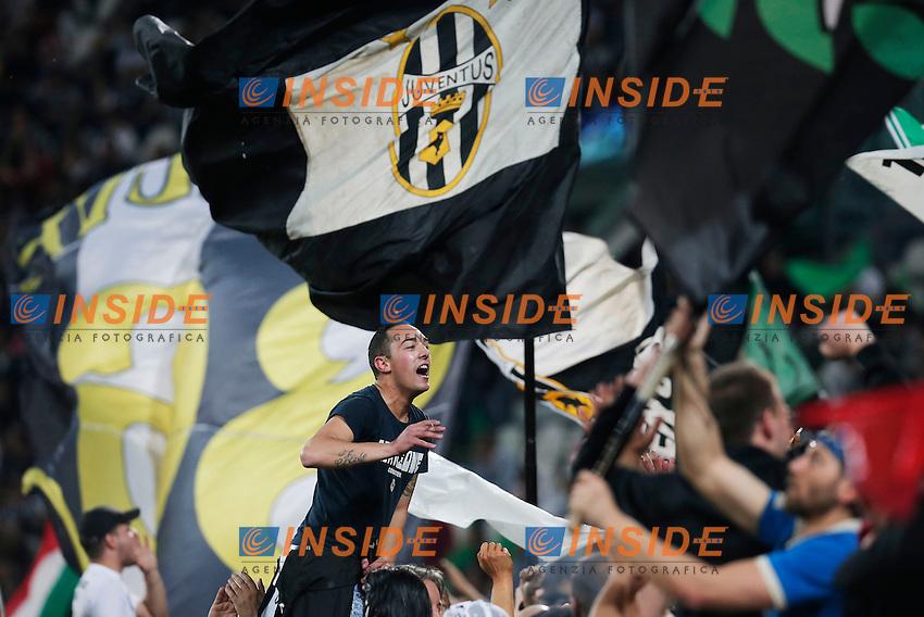 Tifosi Juventus, supporter, Torino 5-5-2014, Juventus Stadium, Football Calcio 2013/2014 Serie A, Juventus - Atalanta, Foto Marco Bertorello/Insidefoto