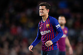 2nd February 2019, Camp Nou, Barcelona, Spain; La Liga football, Barcelona versus Valencia; Philippe Coutinho of FC Barcelona frustrated after loseing the ball