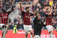 esultanza a fine gara Milan. Celebration at the end of the match <br /> Milano 2-12-2018 Stadio San Siro Football Calcio Serie A 2018/2019 AC Milan - Parma Foto Image Sport / Insidefoto