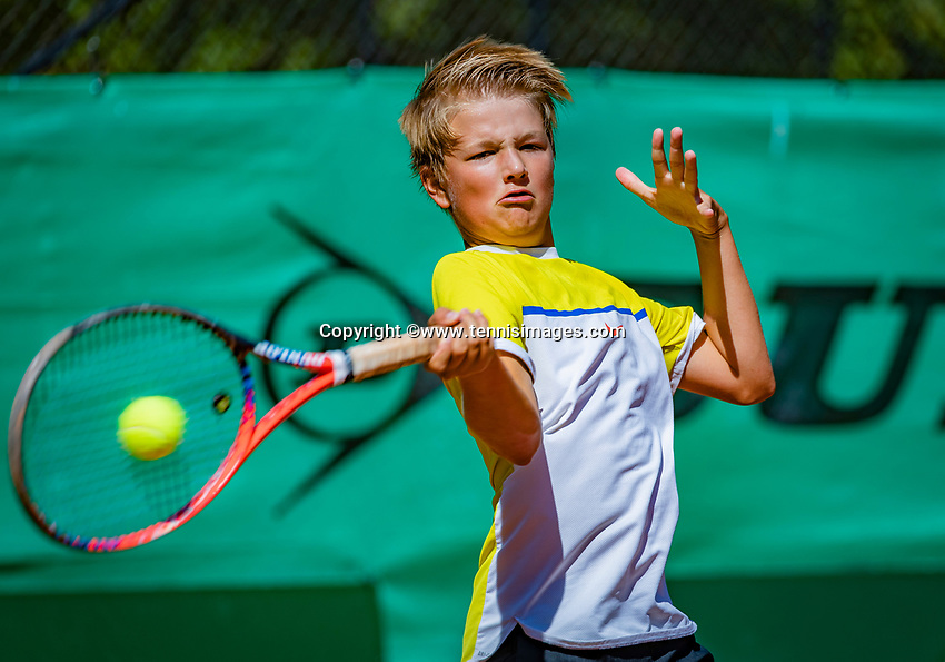Hilversum, Netherlands, August 6, 2018, National Junior Championships, NJK, Nick van den Heuvel (NED)<br /> Photo: Tennisimages/Henk Koster